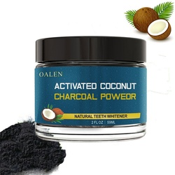 Carbon Kokosnuss Schalen Aktivkohle Zähne Bleaching Pulver Organische Natürliche Bambus Holzkohle Pulver Zahnpasta Mundhygiene
