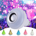 WJ-L4 LED Light Bulb with Integrated Bluetooth Speaker 12W E27 RGB Changing Lamp Wireless Stereo Audio Working Voltage 100V-240