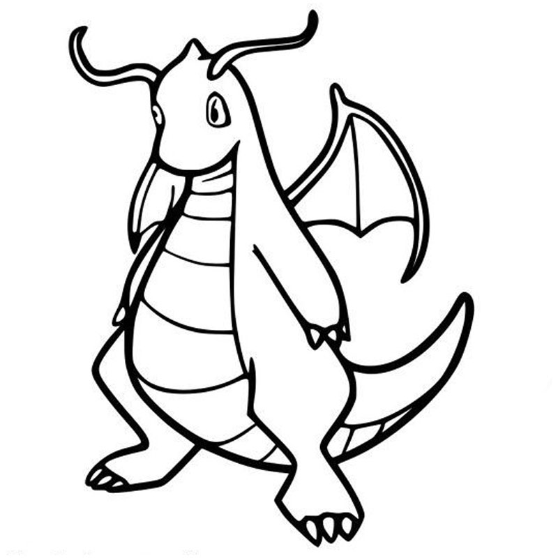 Dragonite Pokemon Coloring Pages