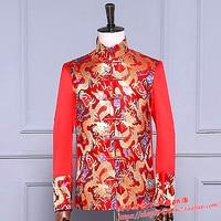 Stage singer jackets ! Men's Wedding Dress Costume Dress jacket Tunic costume groom toast Chinese dress