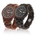 Casual Bewell W112A Women Full Natural Wood Round Wristwatch Quartz Analog Wooden Watch Gift Hot!