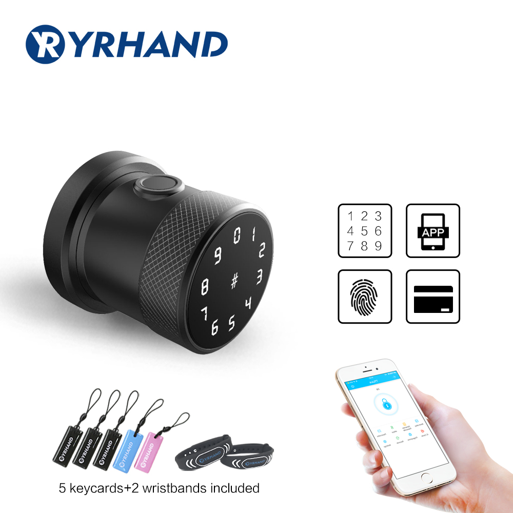 Bluetooth App Biometric fingerprint door lock wifi Digital RFID Electronic Code door lock Waterproof Keypad smart