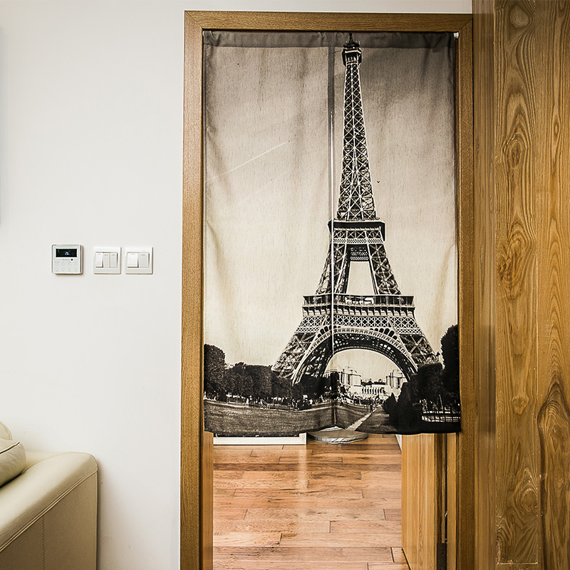 Kitchen Entrance Curtain: Nice Curtains Eiffel Tower Door Curtain Kitchen Bathroom