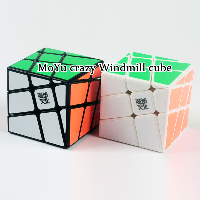 New MoYu Crazy Windmill Magic Cube Puzzle Black And White IQ Brain Educational Cubo magico Toys