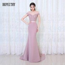 Vestido de festa longa sereia vestidos de dama de honra até o chão feito sob encomenda longo vestido de festa baratos vestidos de dama de honra 2019
