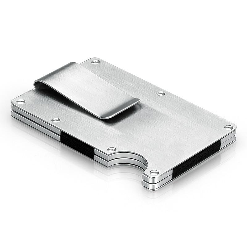 Minimalist Metal Card Holder RFID Blocking Bank Card Wallet ...