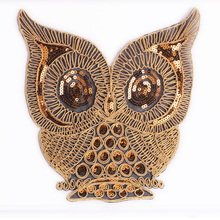 Sequins Owl Butterfly Woodpecker Embroidered Apparel Iron On Patches for Blouse Clothes Applique Supplie DIY Accessory butterfly embroidered applique tee