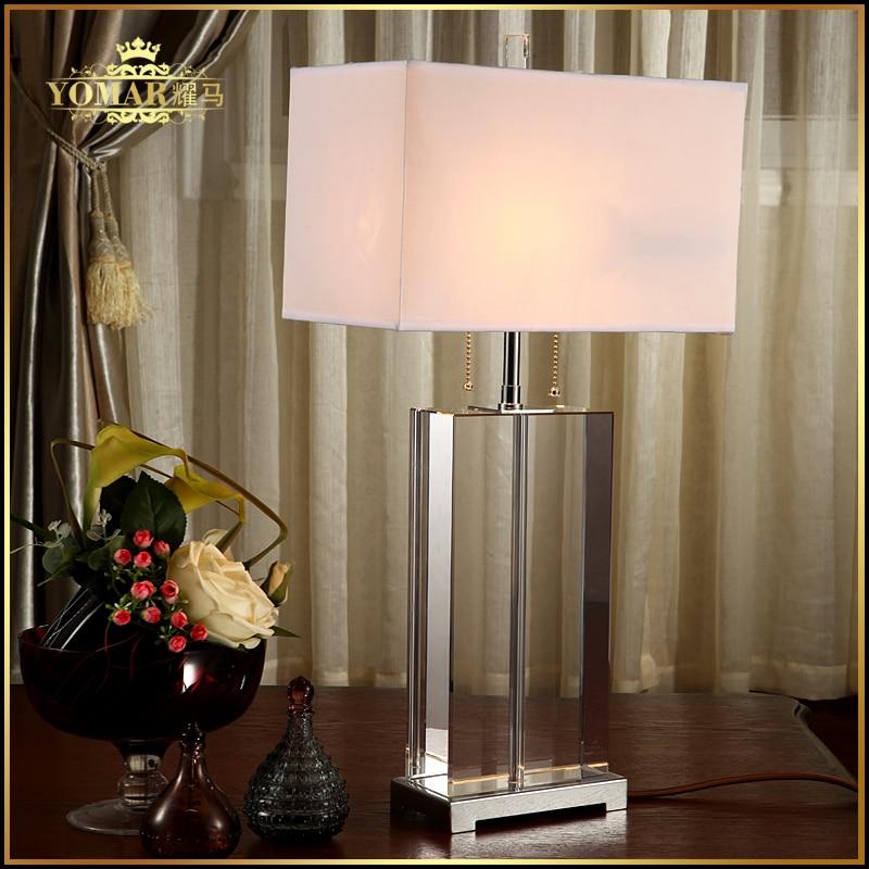 Luxus Moderne Tischlampe Kristall Tischlampe Stoff Lampenschirm ...