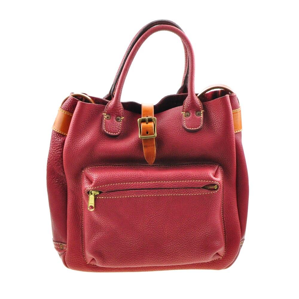 A-Pocket Genuine Full-Grain Cow Leather Business Casual Hand Bag Shoulder Crossbody Messenger Bags wth Inner Pocket a pocket full of rye
