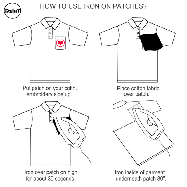 DIY Embroidered Iron On Patches For Clothing