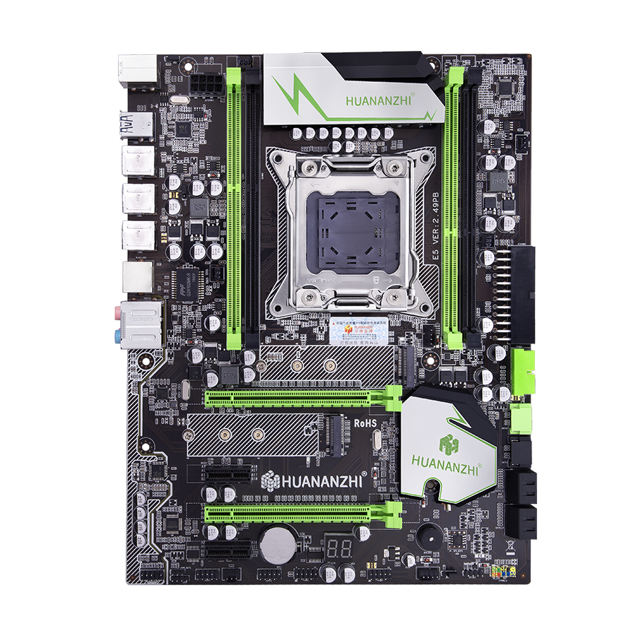 Image 1 - HUANANZHI X79 motherboard LGA2011 ATX USB3.0 SATA3 PCI E NVME M.2 SSD support REG ECC memory and Xeon E5 processor-in Motherboards from Computer & Office