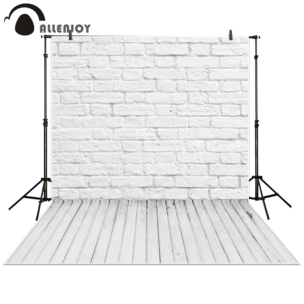 Allenjoy photography backdrop brick Wall wooden floor white baby shower children background photo studio photocall бордюр atlas concorde ambition grey matita 2x30 5