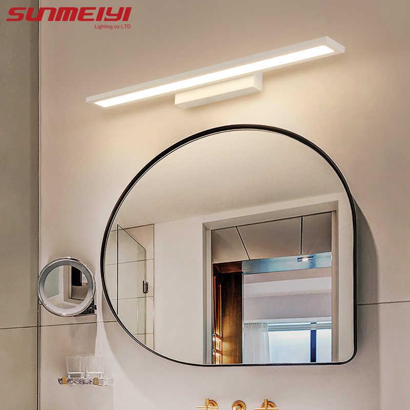 Морден Анти-туман водонепроницаемый акриловый зеркальный свет светодиодный настенный светильник для ванной комнаты краткое освещение в помещении бра с креплением для домашней кровати