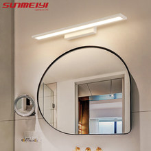 Morden Anti-fog Waterproof Acrylic Mirror Light LED Bathroom Wall Lamp Brief Indoor Lighting Fixtures Sconce for Home Bed(China)