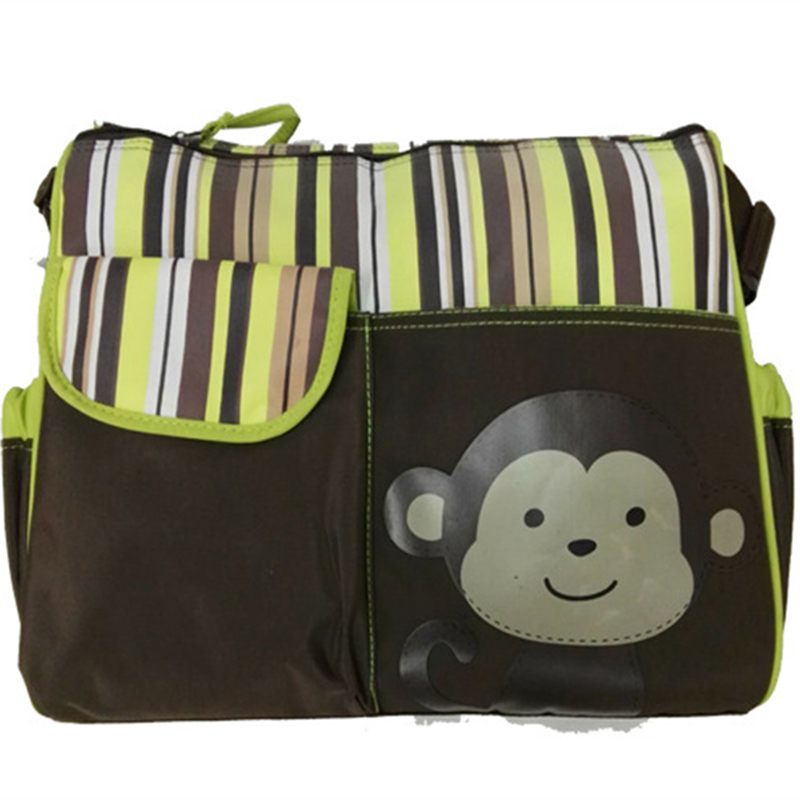 30 40 12cm Cute Monkey Print Baby Diaper Bags Large Capacity Mommy Bag For Mom Stroller Organizer Bolsa Maternidade In From Mother