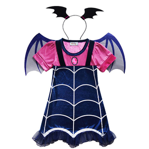Image 2 - Vampire Costumes Kids Girls Dresses Anime Costume Halloween Cosplay Carnival Party for Children Vampire Fancy Dress Girl