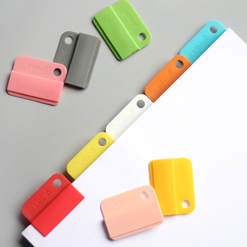 6pcs/set Rainbow Colored Index Tap Binder Index Dividers Paper Clips For Notebook Bookmark