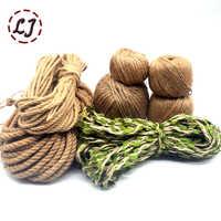 Natural Burlap Hessian Jute Twine Cord Hemp Rope leaf String Gift Packing Strings Christmas Event Party Supplies handmade DIY