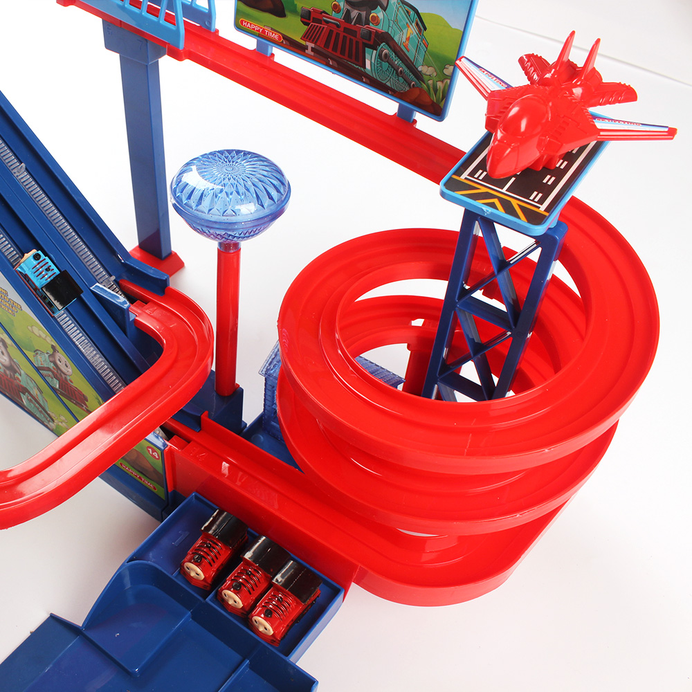 Glow Racing Rail Track Toys Railroad Children Roller Coaster Track Model Kid Electric Train Assemble Railway Toy For boys diy puzzle kid colorful plastic race track led car children assembly toy bend flex glow rails racing roller coaster toys