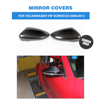 1Pair Carbon Fiber Side Rearview Mirror Cap Covers for Volkswagen Passat CC 12-14 & Scirocco 2009-2014 Add On Style
