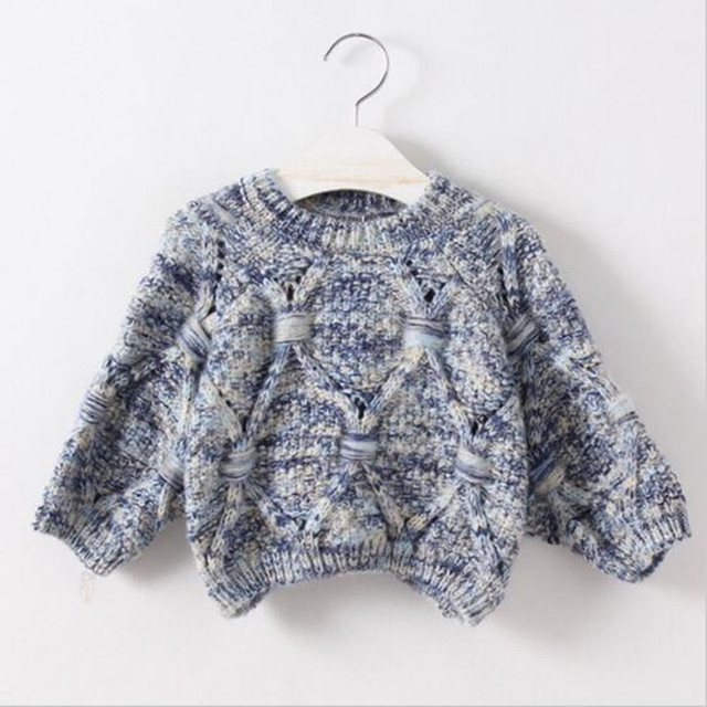 2016 kids a new winter sweater long-sleeved round collar thread diamond brief paragraph warm sweater girl 3-8 years old