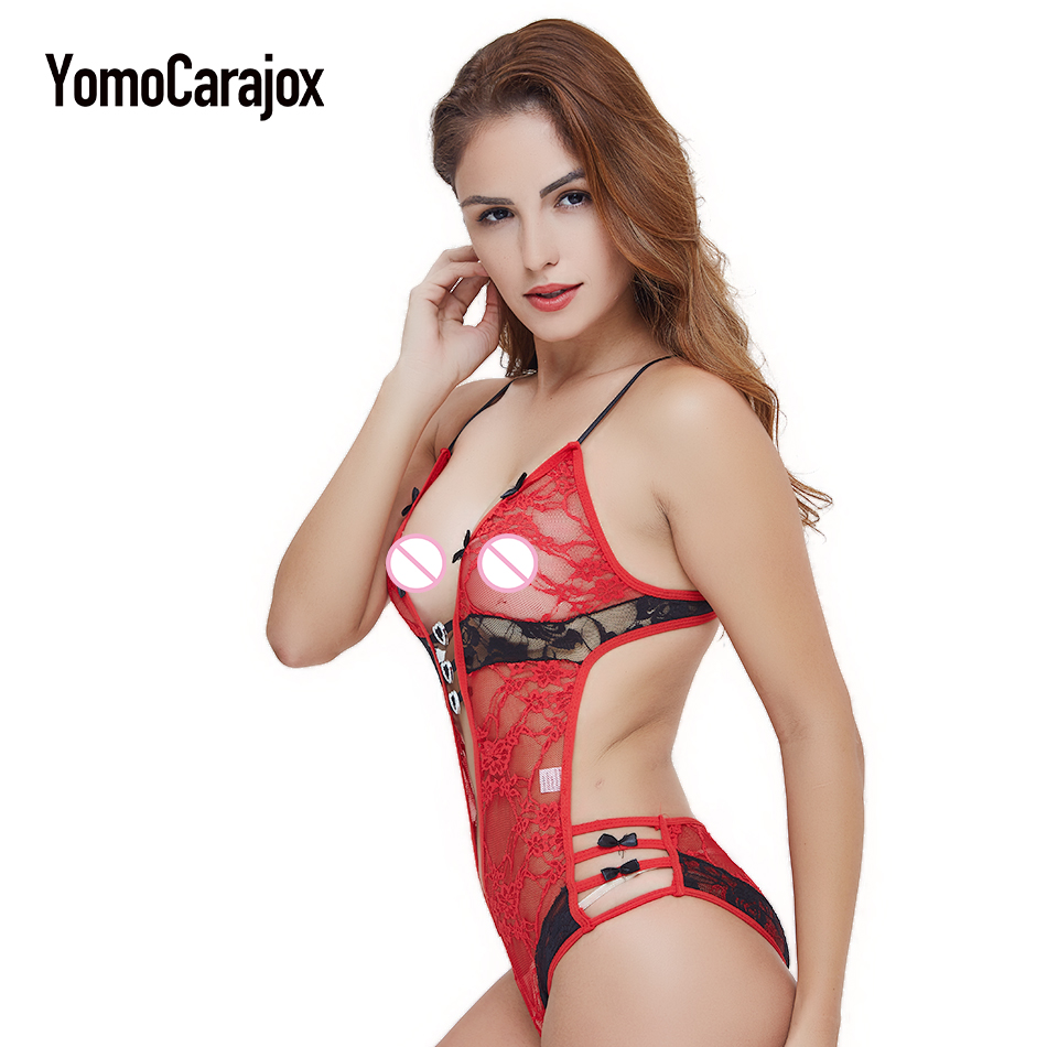 Fashion Hot Sale Sex Product Sexy Costumes Women Underwear Lady Sexy Lingerie Transparent Conjoined Dress Suit Leotard Intimates 7