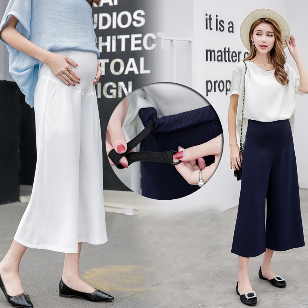 MUQGEW для беременных женские с высокой талией брюки для беременных комфорт Опора помоев леггинсы модные Беременность брюки M-XXL