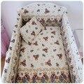 Promoción! 6 unids Baby & kids cuna lecho kit ropa de cama de bebé, incluyen ( bumpers + hojas + almohada cubre )
