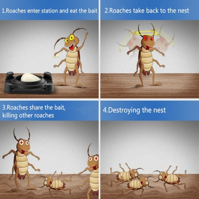 10Pcs Cockroach Killing Bait Gel Roach Bait Station insecticide Anti Cockroach Repeller Killer Pest Control Safety Eco-Friendly