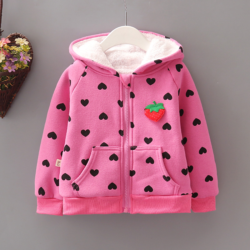 BibiCola Children Girls Hoodies Outerwear  Jackets Coat Kids Girls Autumn Winter Thick Warm Fleece Coat For Girls Outfits