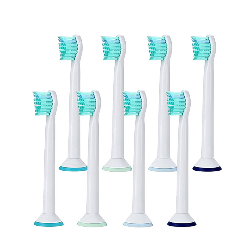 New 8pcs HX6024 Generic Electric Sonic Replacement Brush Heads Fits For Philips Sonicare Toothbrush Heads Compact Soft Bristles 16pcs best sonic electric toothbrush replacement for philips sonicare brush heads hx6064 diamond clean soft bristles black new