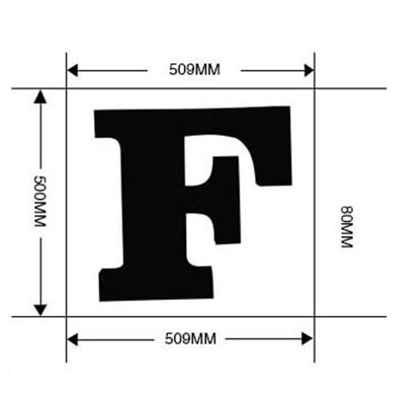 SGROW Metal Letter F Wall Lamp Light for Bedroom Living Room Art Lampara Industrial Creative Lights Logo F Iron Billboard Lamps