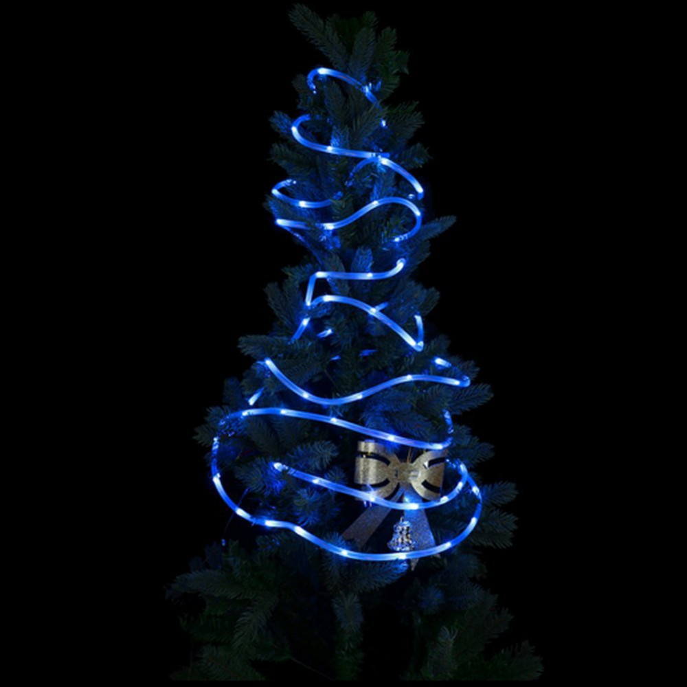 50 Leds Solar Rope Lights, 16.5ft Outdoor Waterproof LED Christmas Lights/ Gardens, Lawn, Patio, Weddings, Parties decoration ...