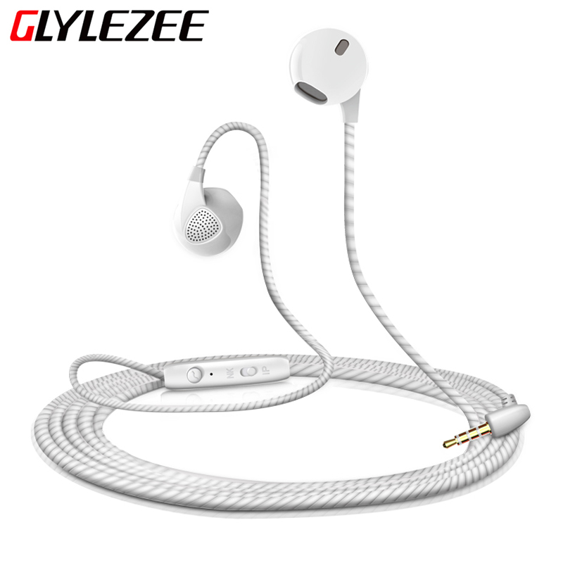 In-Ear Earphone with Microphone for Phone Candy Color Aviation Cable Heavy Bass Sound Quality Music Headset For Xiaomi Earpods cafele professional in ear earphone metal heavy bass high fidelity sound quality music earphone with microphone for mobile phone
