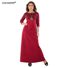 2018 Новый Большие размеры халат Цветочный принт длинное платье макси зима лоскутное Вечеринка Платья для женщин плюс Размеры элегантное женское платье cocoepp