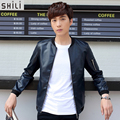 New Arrival 2016 Autumn & Winter Fashionable Men's PU Leather Jacket  Windbreaker Male Jacket