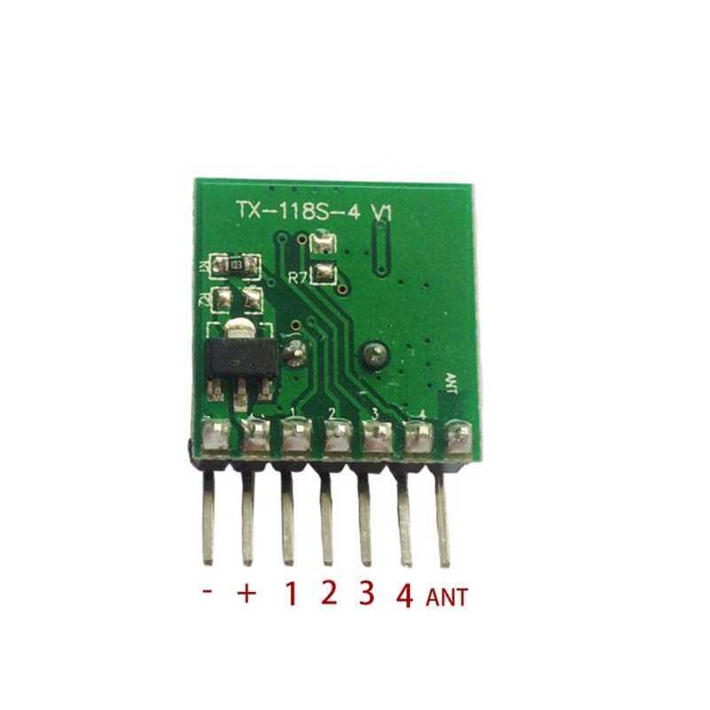 Nuevo módulo transmisor de código de aprendizaje Mini inalámbrico 433Mhz RF Control remoto 1527