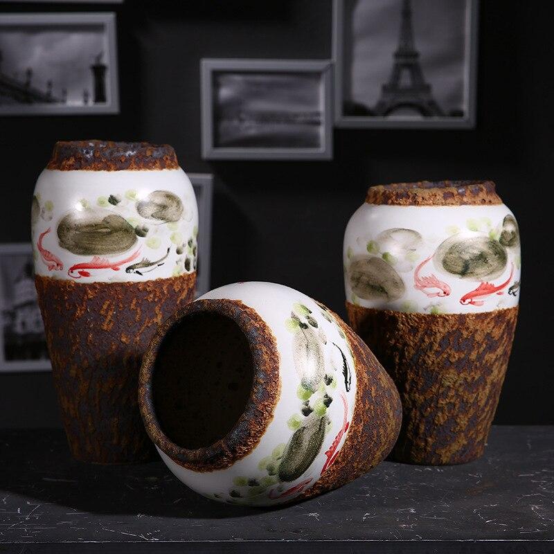 Vases de haute qualité décoration de mariage pot en céramique porcelaine pot fleur graphique Vase Style classique Bar décoration