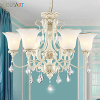 Lamp Resin Antler Chandelier Glass Lustre Vintage Cristal Crystal Pendants For Chandellers For Bedroom Heracleum