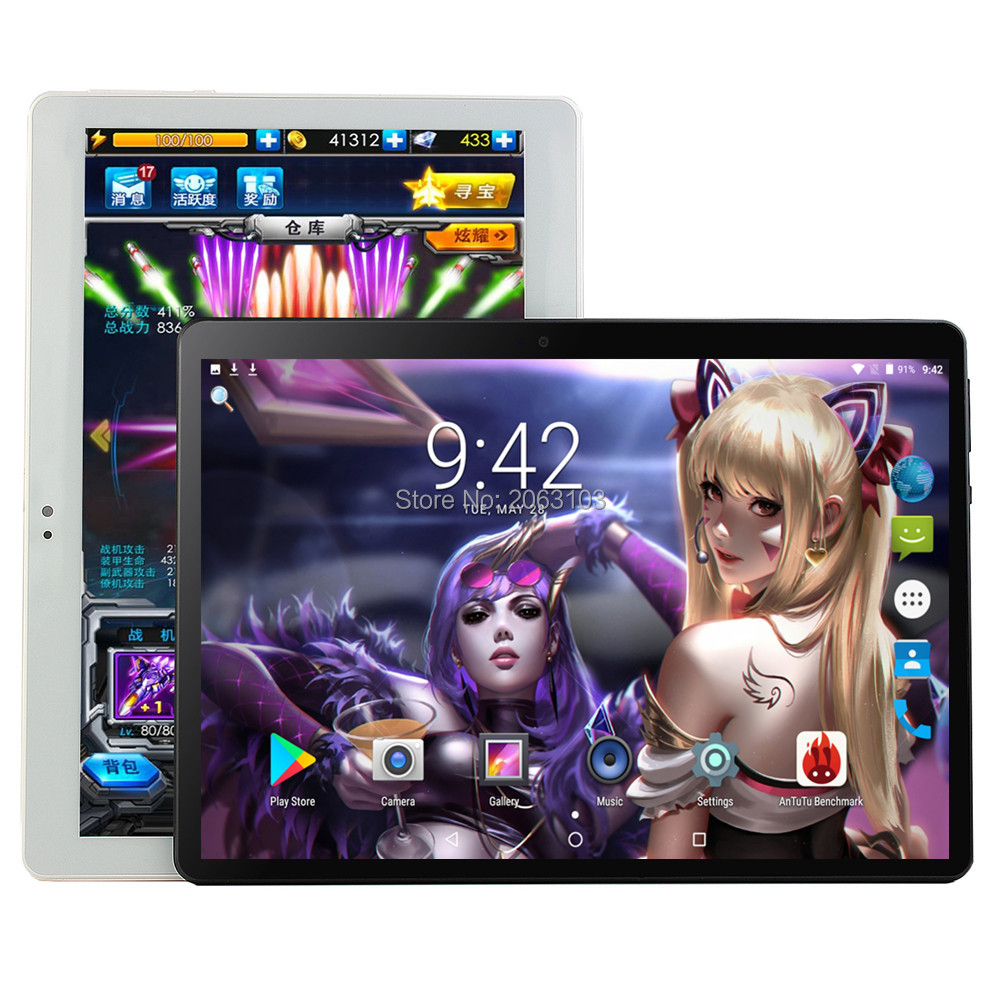 Android 9.0 GPS Tablet 10 Inch Tablet Octa Core 3G 4G FDD LTE Phone Call 6GB RAM 64GB ROM Dual SIM 8.0MP Wifi Bluetooth + Gift
