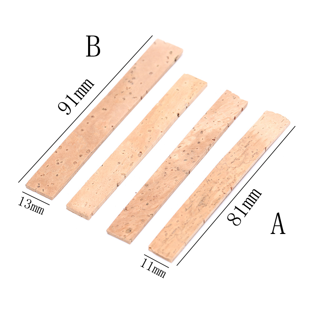 Clarinet Cork 4Pcs Clarinet Natural Cork Mouth Neck Tube Interface Instrument Repair Parts