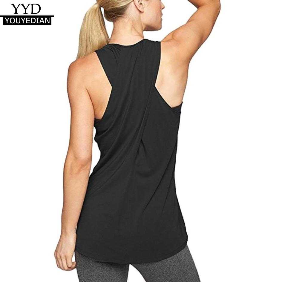 Summer Tank Tops For Women 2018 Tunic Solid Back Cross Sleeveless Tops  Loose Casual Clothes Women daa130f1d824