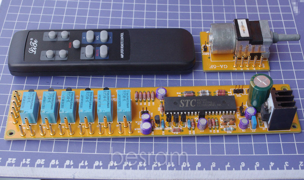 GA-5 4 ALPS combined motor remote volume control board AC9-12V RCA input batman 66 volume 4