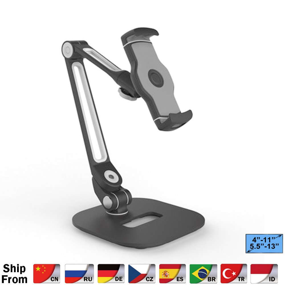 Multifunction 360 Rotation 4 13 inch Tablet PC Stand/ Mobile Phone Holder Metal Base Universal Foldable Lazy Tablet Support -in Tablet Stands from Computer & Office