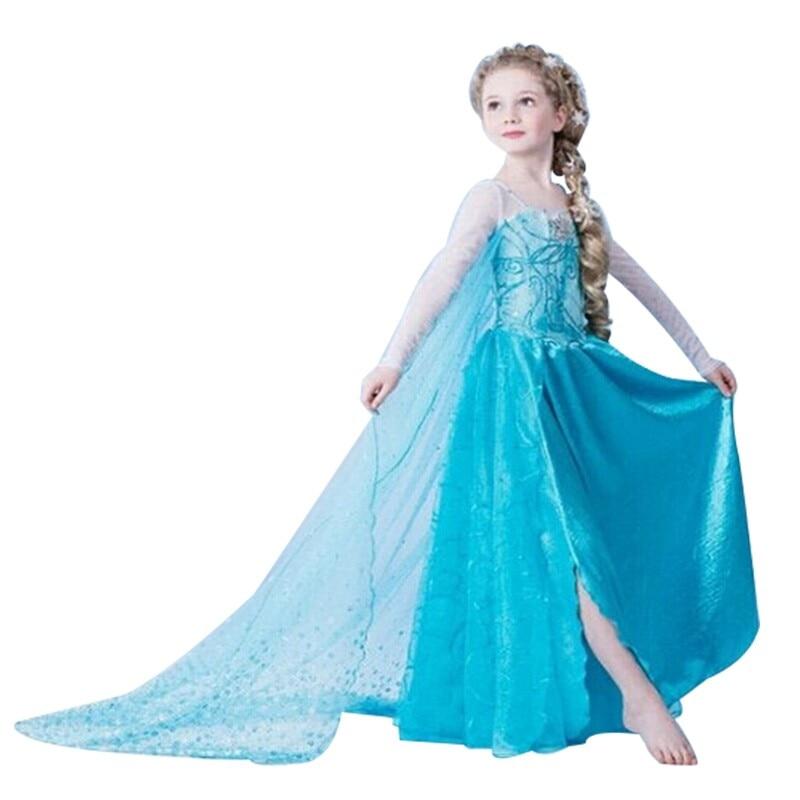 HTB1f4hUXXP7gK0jSZFjq6A5aXXad Fancy Girl Princess Dresses Sleeping Beauty Jasmine Rapunzel Belle Ariel Cosplay Costume Elsa Anna Sofia Children Party Clothes