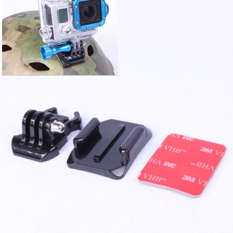 Curved Adhesive Mount for Go Pro Quick-Release Buckle Mount Base For Gopro Hero 6 5 4 3 Xiaomi Yi 4k Action Camera Accessories
