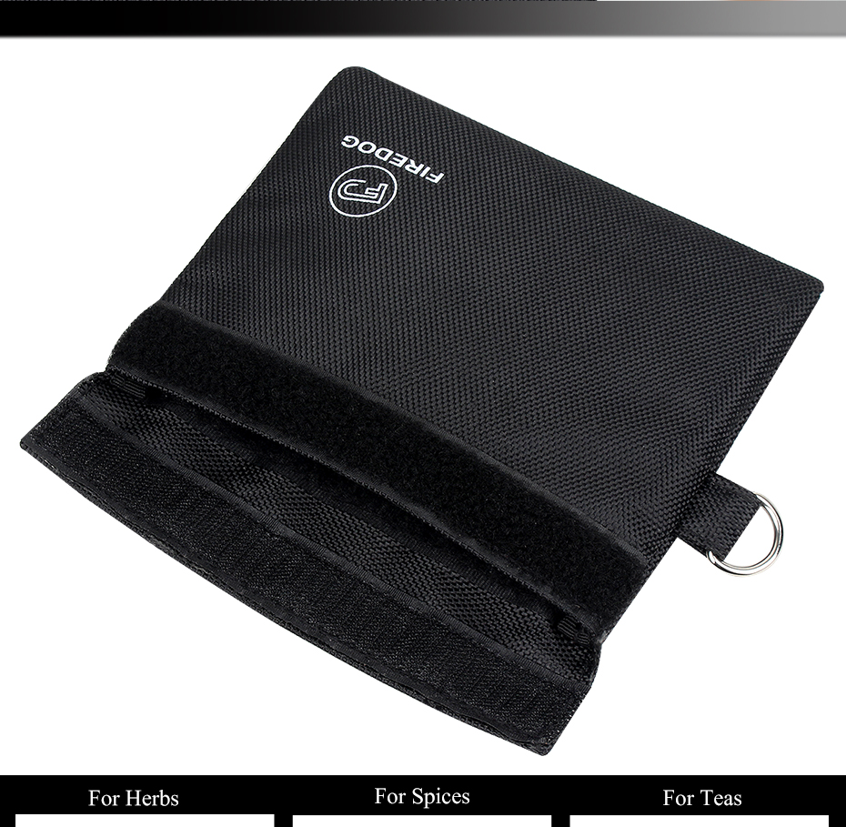 Smoking Smell Proof Bag Carbon Lined Tobacco Pouch for Weed Herb