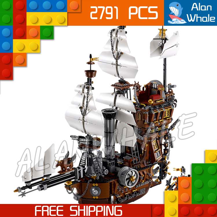 2791pcs Movie Series Pirates of the Caribbean 16002 Metal Beard's Sea Cow Model Building Blocks Sets Toys Compatible With Lego model building blocks toys 16009 1151pcs caribbean queen anne s reveage compatible with lego pirates series 4195 diy toys hobbie