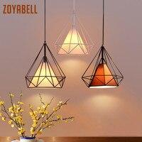 zoyabell Vintage Pendant Light Modern Diamond Iron Dinning Restaurant Industrial Decor Retro Design Lamp Pendant Hanging Light