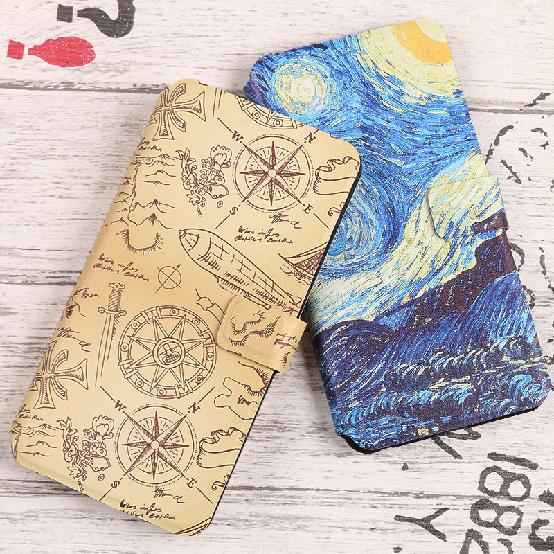 Coque For <font><b>Nokia</b></font> 1 2 2.1 3 3.1 5 5.1 6 6.1 7 <font><b>7.1</b></font> 8 8.1 9 Plus X6 Cover Flip Wallet Fundas Painted cartoon Phone Bag <font><b>Cases</b></font> Capa image